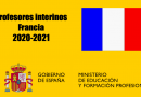 Profesores interinos Francia 2020-2021