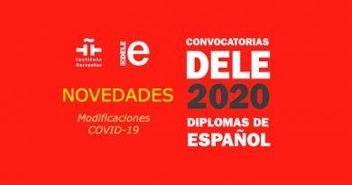 Novedades DELE 2020