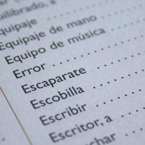 Vocabulario y lexico