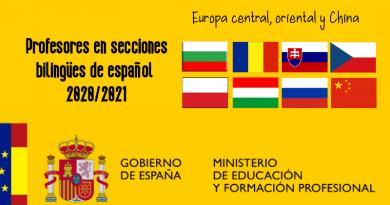 Profesores Secciones Bilingües de español en Europa central, oriental y China 2020-2021